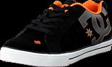 DC Shoes - Kids Court Graffik Vulc Shoe Black/Orange