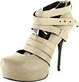 V Ave Shoe Repair - Revolve 360 Stiletto Earth Beige/Leather