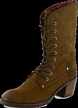 Park West - Leather Boot  67 Dark Brown