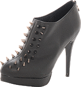 Fashion By C - Heel with rivets Black