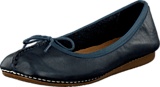 Clarks - Freckle Ice Navy Leather