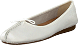 Clarks - Freckle Ice White Leather