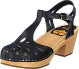 Swedish Hasbeens - Lacy Sandal Black/Nature Sole