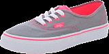 Vans - K Authentic Neon Pop Frost Grey/Pink