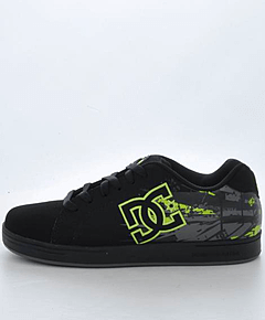 DC Shoes - Kids Character Black/Soft Lime