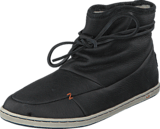 Hub Footwear - Queen Leather/Wool Black