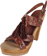 Pepe Jeans - Leather Wooden Heel Tassel