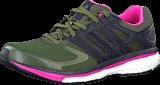 adidas Sport Performance - Supernova Glide 6 W Earth Green/Black/Solar Pink