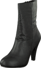 Bianco - Midhigh Zip Boot Black