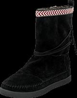 Toms - Suede Trim Womens Nepal Boot Black