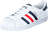 adidas Originals - Superstar Foundation Ftwr White/Collegiate Navy/Red