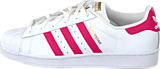 adidas Originals - Superstar Foundation Jr White/Bold Pink