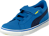 Puma - Puma S Canvas Vulc V Kids Strong Blue-Peacoat