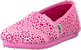 Toms - Classics Jr Pink Crochet