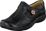 Clarks - Un Loop Black Leather