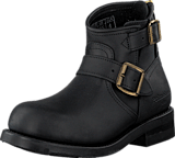 PrimeBoots - Engineer Zip Low Black Brass