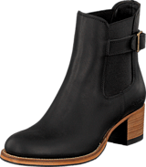 PrimeBoots - Ascot Heel Low Black Brass