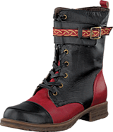 Soft Comfort - Halle Black/red 06