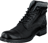 Mustang - 4865605 Men's Lace Ancle Boot Black