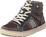 Mustang - 5033504 Jr High Top Sneaker Dark Brown
