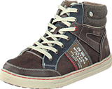 Mustang - 5033504 Youth High Top Sneaker Dark Brown