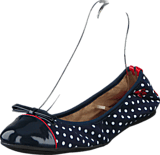 Butterfly Twists - Cara Navy / Wht Polka Dot