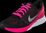 Nike - Nike Lunarglide 7 (Gs) Black/Mtllc Slvr-White-Pnk Pw