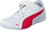 Puma - Drift Cat 5 L NU V Kids White-Rose Red