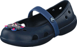 Crocs - Keeley Springtime Flat PS Navy Bijou Blue