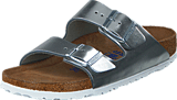 Birkenstock - Arizona Smooth Leather Metallic Silver