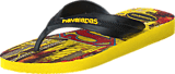 Havaianas - Kids Max Herois Black/Citrus Yellow