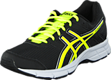 Asics - GEL-GALAXY 8 GS Black/Flash Yellow/White