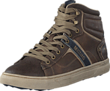 Mustang - 4108502 Men's High Top Sneaker Brown