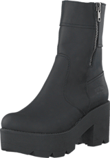 Johnny Bulls - 5066 Mid Platform Boot Black Old Silver