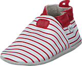 Bobux - Stripes White/Red