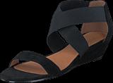 Bianco - Suede Elastic Sandal AMJ17 10 Black