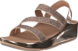 Fitflop - Crystal Z-strap Sandal Rose Gold