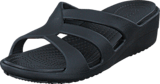Crocs - Sanrah Strappy Wedge Black/Black