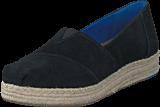 Toms - Platform Alpergata Black Suede