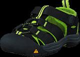 Keen - Newport H2 Tots Black/Lime Green