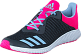 adidas Sport Performance - Fortarun K Dark Grey/Easy Blue S17/Shock