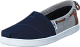Toms - Young Navy Canvas/Stripes Navy