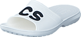 Crocs - Classic Graphic Slide White/Black