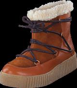 Pieces - Paccia Leather Boot Cognac
