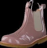 Angulus - Chelsea boot stitched detail J 1387/010 Patent powder/Beige