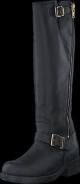 Johnny Bulls - High Boot Double Zip Black / Shiny Gold