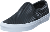Vans - UA Classic Slip-On (Moto Leather) Black/White