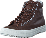 Converse - Boot PC Tumbled Leather Hi Dark Clove/Dark Clove/Egret