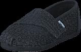 Toms - Seasonal Classic Tiny Black Lace Glimmer
