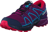 Salomon - Speedcross Cswp J Grape Juice/Evening B/Bluebird